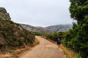 Heading back from the beach. Tennessee Valley Trail. Marin California