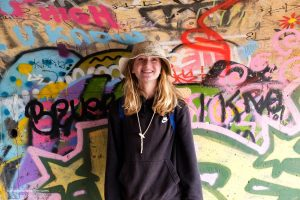 Loving all the colorful graffiti inside the bunker. Tennessee Valley Trail. Marin California