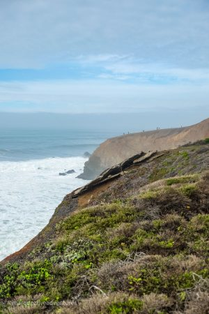 Looking back towards The Point. Mori Point Trail. Pacifica, California