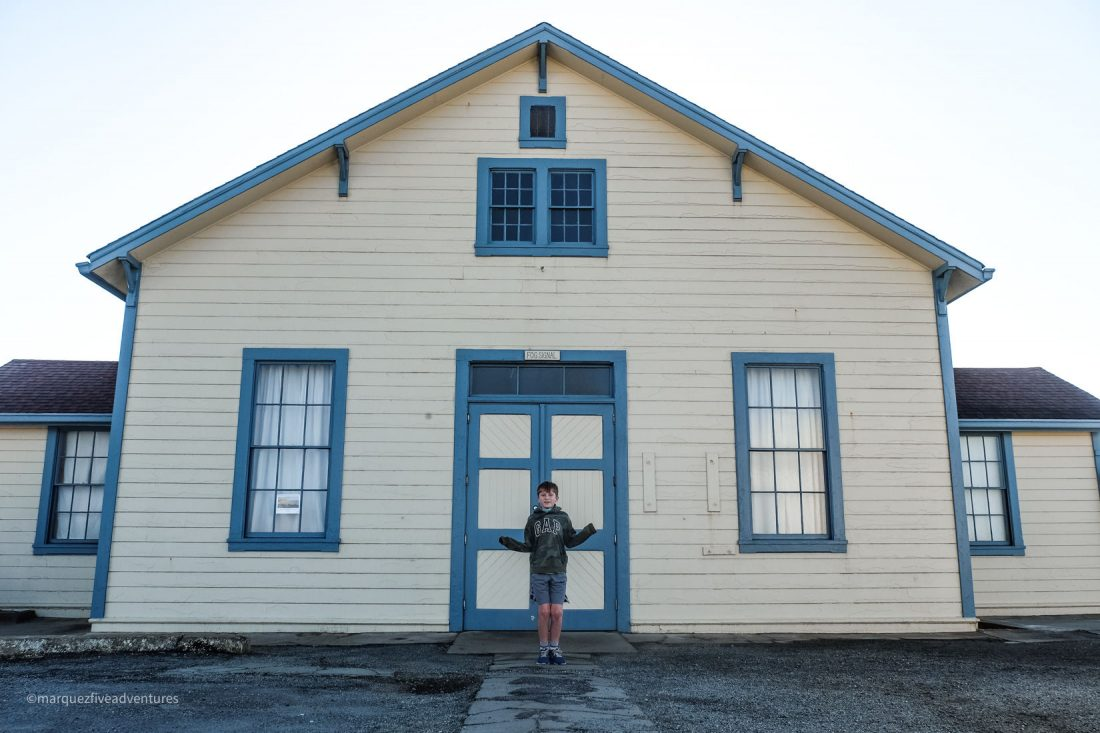 The Fog Signal Building at Pigeon Point. Lighthouse. Pescadero, California. San Mateo County