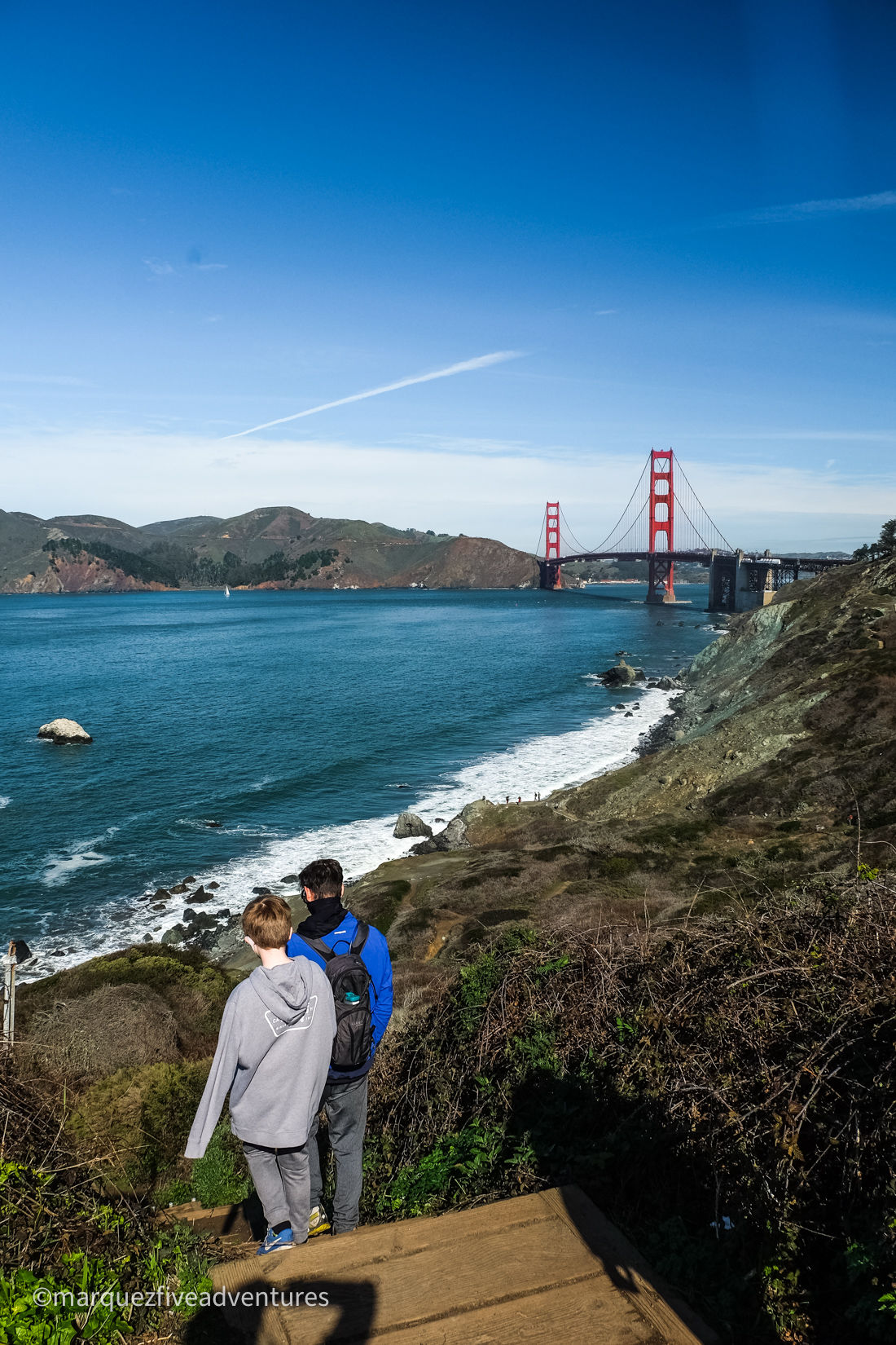 Breathtaking views along the Batteries to Bluffs trail. San Francisco, California