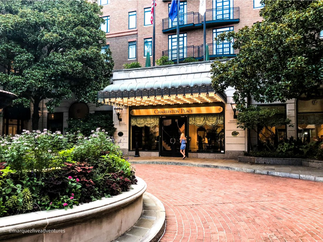 We stayed at Charleston Place with a great downtown location