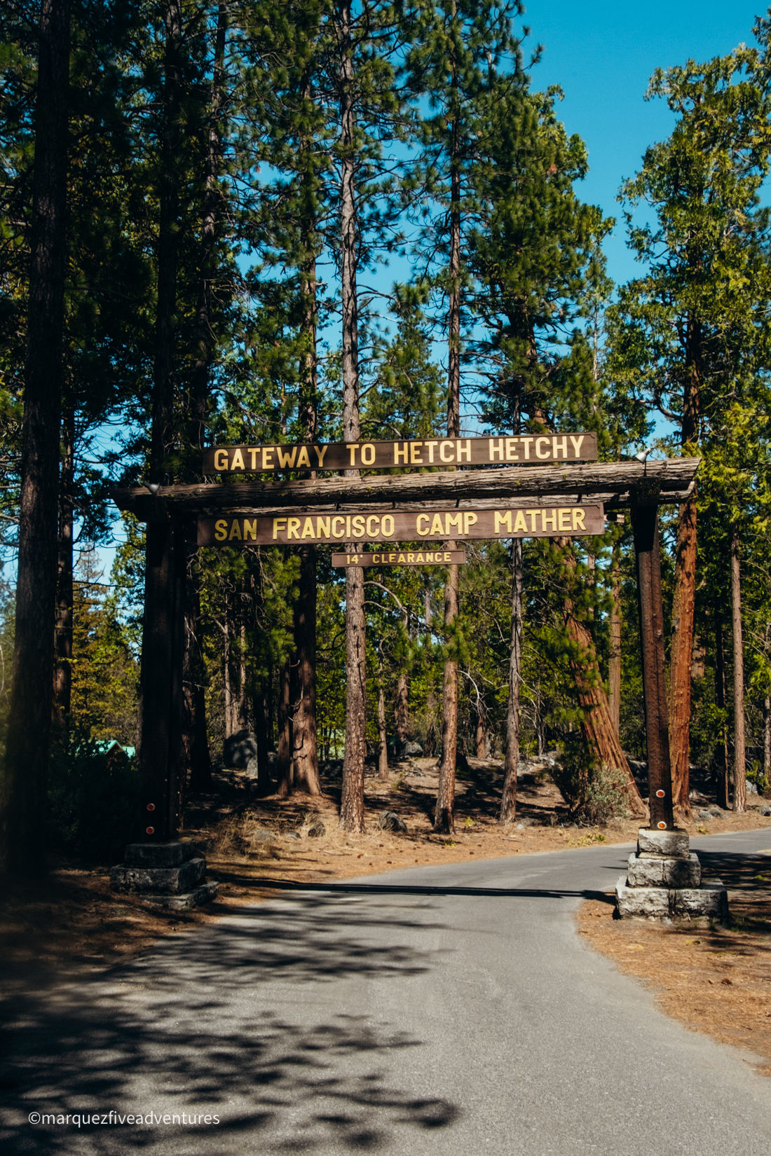 Gateway to the Hetch Hetchy. Yosemite National Park.
