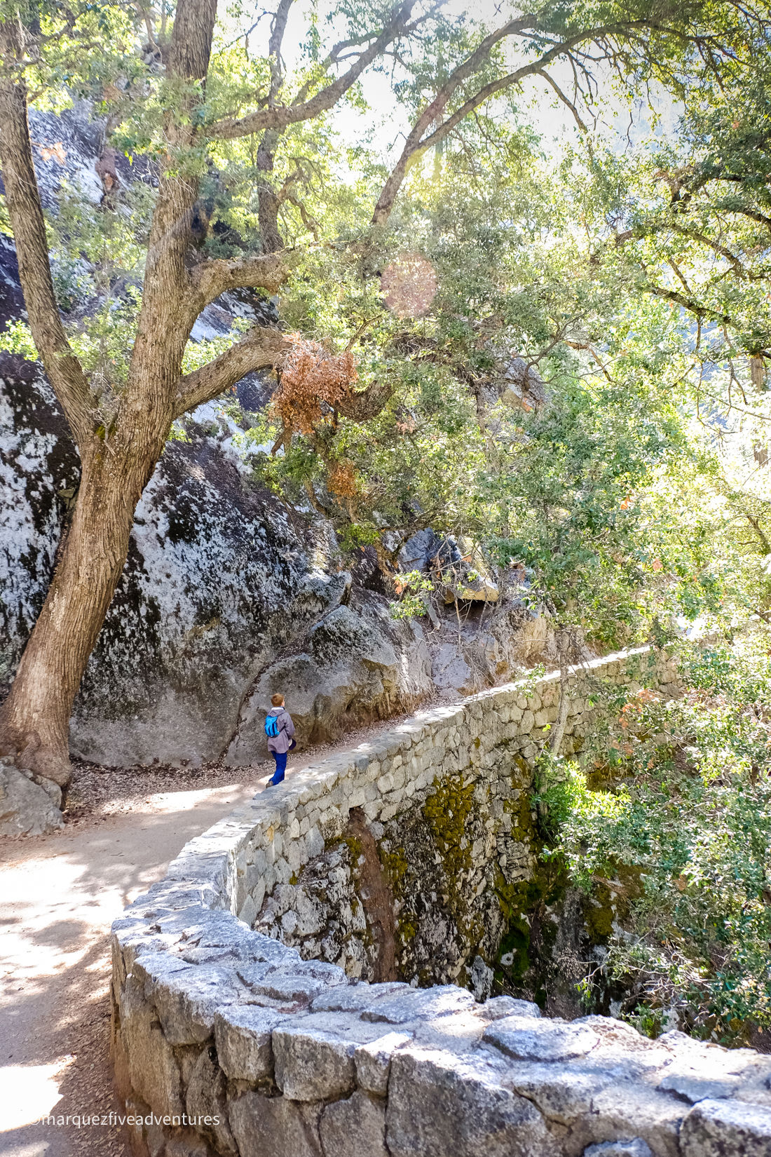 Beginning the ascent on the Mist Trail. Yosemite National Park. California