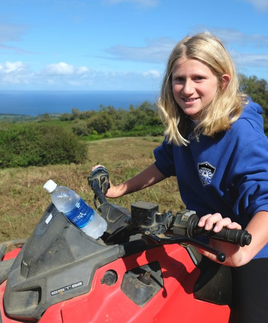 Spectacular views of the Pacific on our ATV tour. Hawi. Big Island