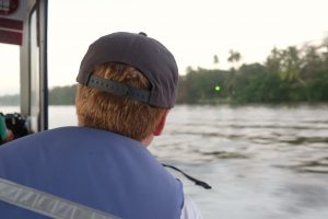 We got around by either walking - or boating! Tortuguero Costa Rica