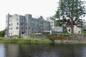 Ashford Castle from Lake Corrib. County Mayo, Cong, Ireland