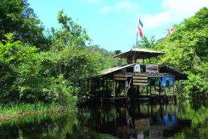 A little research station along the canal. Tortuguero. Costa Rica