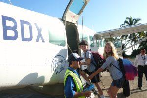 Boarding our flight back to San Jose. Tortuguero Costa Rica