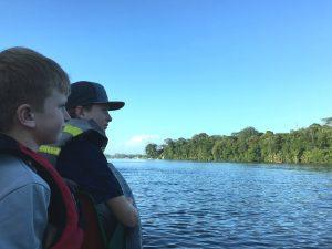 Looking for jungle animals. Tortuguero Costa Rica