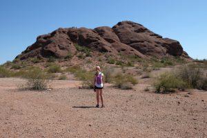 Admiring the red rocks in Scottsdale, Arizona