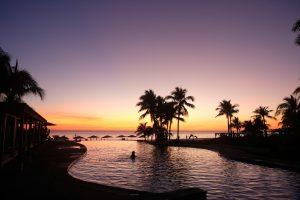 Sunset swim at Los Veneros. Punta Mita, Mexico