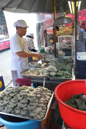 One of the stops on our street food tour. Bangkok Thailand