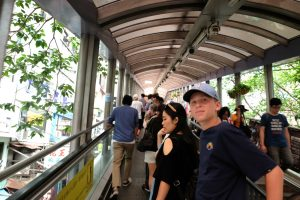 Riding the mid levels escalator. Hong Kong