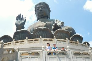 Big Buddha on Lantau Island, Hong Kong. Tian Tan Buddha