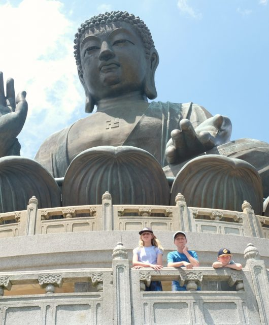 Big Buddha on Lantau Island, Hong Kong. Tian Tan Buddha