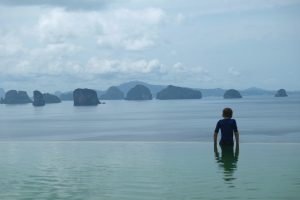View from the Hilltop pool at Six Senses Yao Noi Thailand