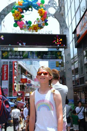 Strolling down Takeshita Street in Harajuku. Tokyo Japan