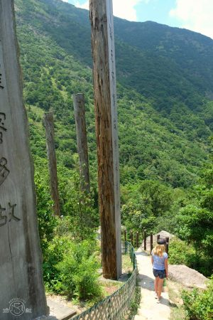 Views of Lantau Island from the Wisdom Path