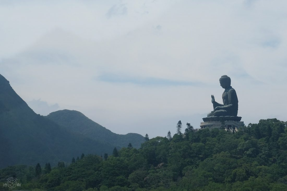 First glimpse of Big Buddha from the cable car