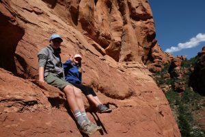 Climbing up the canyon