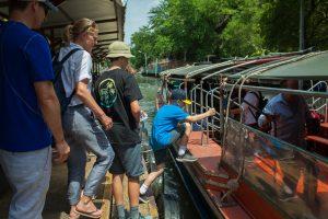 Boarding the longtail boat