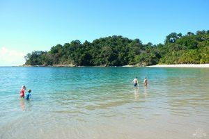 Swimming at Manuel Antonio Beach