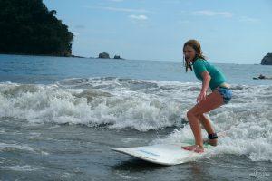 Surfing at Espadilla Beach