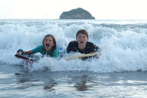The thrill of boogie boarding!