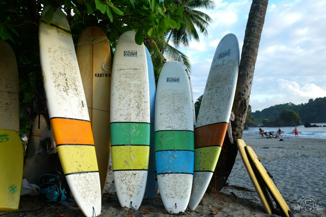 Surfboards at Espadilla Beach