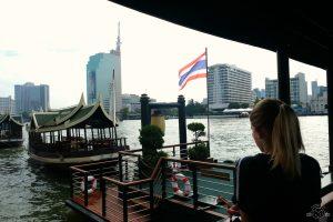 Waiting to board the water taxi at Peninsula Bangkok