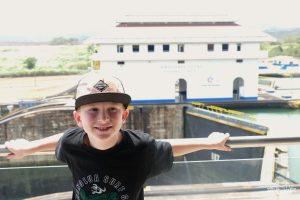 The Miraflores Lock at the Panama Canal