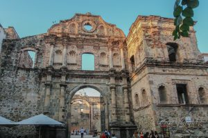 The church and convent of Santo Domingo - it was ravaged by a fire in 1756 and never rebuilt
