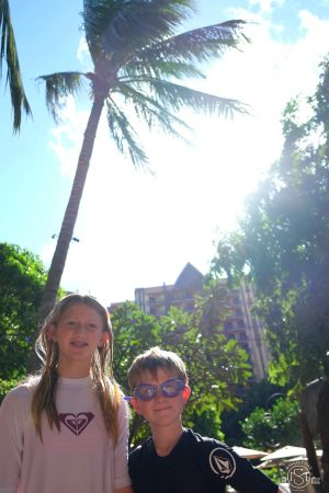 Getting ready to tackle the water park at Aulani