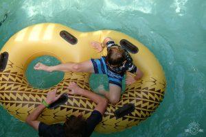 One of many laps around the lazy river. Disney Aulani. Ko Olina, Oahu, Hawaii
