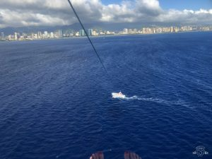 View of Honolulu from a few hundred feet up