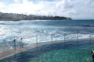 Bronte Pool along the Bondi to Coogee coastal walk. Sydney, Australia