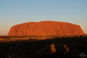Uluru at sunset. Australia. Ayers Rock