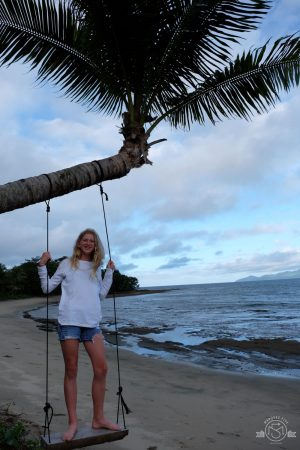 One of the many swings & hammocks to relax in along the beach