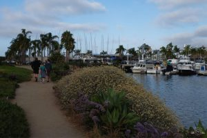 Walking to dinner in Point Loma. San Diego California