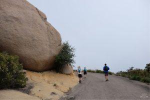 Hiking up to Potato Chip Rock. Poway California. San Diego