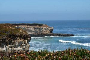 The view from West Cliff Drive. Santa Cruz California