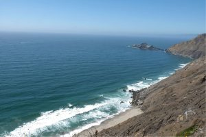 Pacific views from Devil's Slide in Pacifica. California