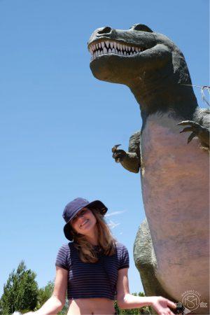 Visiting the Cabazon Dinosaurs. Palm Springs California