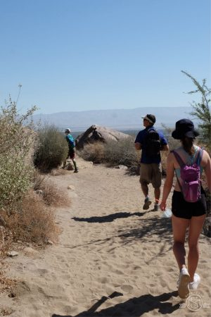 The sandy part of the trail. Tahquitz Falls Hike. Palm Springs, California