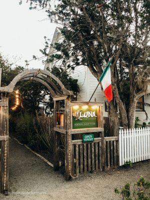 Dinner at Luna in Mendocino. California