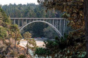 Russian Gulch Bridge. Mendocino California