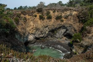 The sinkhole on the Headlands Trail. Russian Gulch State Park. Mendocino California