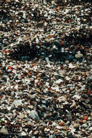Pebbles & Glass. Fort Bragg, California. Mendocino County