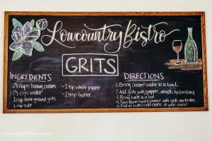 Grit recipe at Lowcountry Bistro. Charleston, South carolina